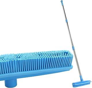 ゴムほうき 130CM長 調整可能 さハンドル、スキージエッジ、カーペット掃除ブラシ ペットの毛 ほこり 汚い水 タイル 木製床ブラシ 掃除用品