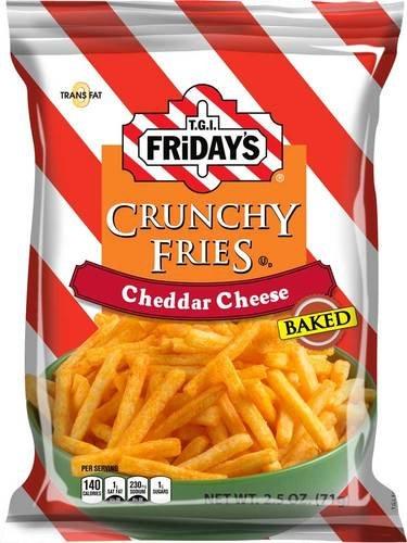 TGI Fridays Crunchy Cheddar Cheese Fry, 2.5 Ounce -- 6 per case.