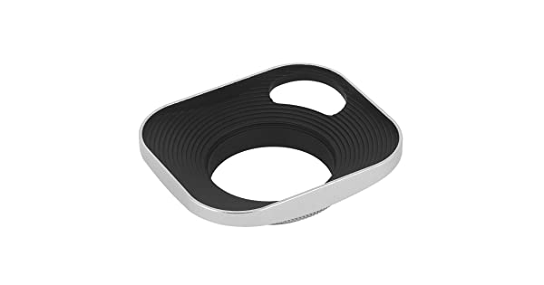 Haoge LH-W39P 39mm Square Metal Screw-in Lens Hood with Hollow Out Designed for Leica Rangefinder Camera with 39mm E39 Filter Thread Lens Silver