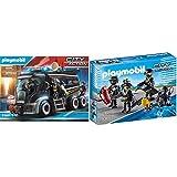 Playmobil 9360 - SEK-Truck mit Licht und Sound Spiel & 9365 - SEK-Team Spiel