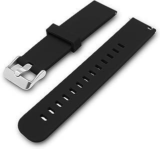 Caoutchouc noir bracelet en résine pour les plongeurs Numérique Casio /& montres 18mm,20 mm,22 mm