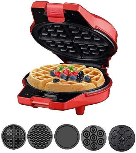 ZOUSHUAIDEDIAN Waffle Maker Electric Pancake Cake Making Machine Baking Tools Household Paninis, Hash Browns, Other on The go Breakfast, Lunch, Making Cake Waffle Sandwich Doughnut