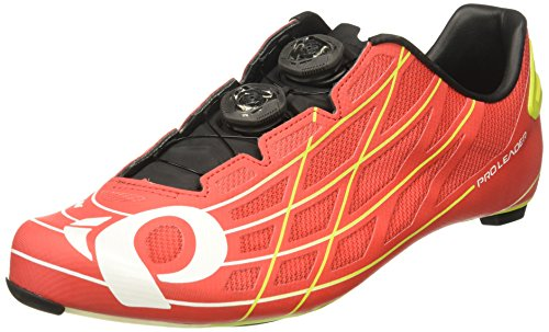 PEARL IZUMI PRO Leader III Cycling Shoe, True Red/Lime Punch, 38 EU/5.3 D US
