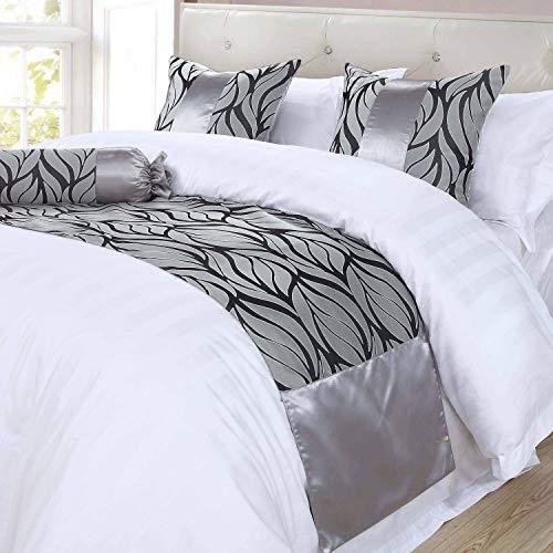 OSVINO Premium Bloemen Patronen Modern Bed Runner Sjaal Bescherming Home Hotel Bruiloft Décor Luxe Glad