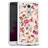 DeinDesign Coque en Silicone Compatible avec LG G3 Étui Silicone Coque Souple Rose Clair Printemps...