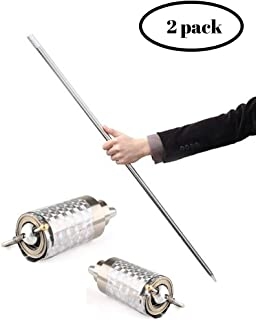 """LSB 43-1/4"""" Silver Metal Appearing Cane Magic Wand for Professional Magician Stage Close-up Magic Trick Magic Accessories Perfect for Kids, Gifts, and Magicians The Perfect Stocking Stuffer"""