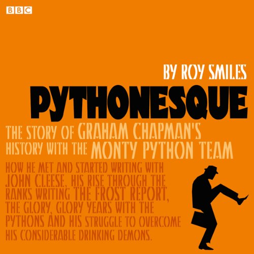 Pythonesque audiobook cover art