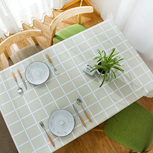 DJUX Mantel Impermeable a Cuadros de Color Puro, Anti-escaldado, a Prueba de Aceite, Mantel de té desechable Mantel 140x220cm