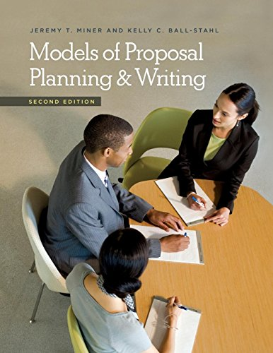 Models of Proposal Planning & Writing