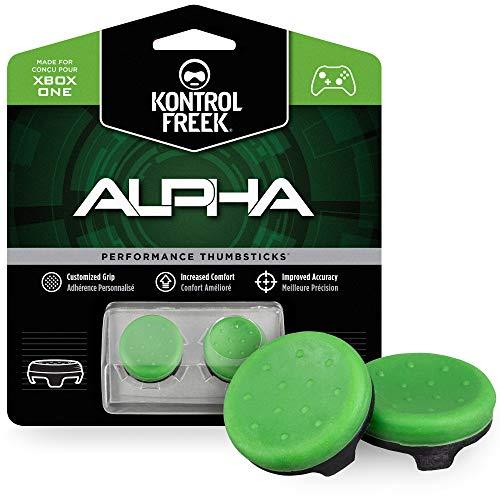 KontrolFreek Alpha para Xbox One y Xbox Series X | Performance Thumbsticks | 2 Alturas bajas, cóncavo | Verde