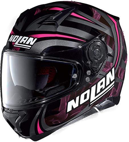 Nolan N87 Ledlight N-Com Integralhelm XXS (51/52) Schwarz/Pink