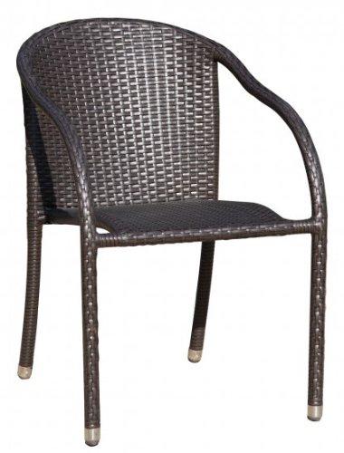 Chaises empilables avec alukappen de qualité pour chaise de jardin en poly-rotin coffee