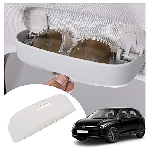 SHAOHAO Soporte para gafas de sol para Golf 8 MK8 2020 2021, actualización interior del coche, color blanco
