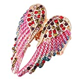 Renquen - Anillo de Cristal para Mujer, diseño de alas de ángel