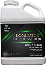 DOMINATOR 1 Gallon Mulch Anchor - Locks Mulch, Ready to Use Adhesive, Long Lasting