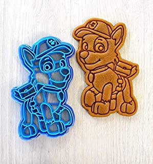 Cookie Cutter by 3DForme, 4 inch PAW Patrol Dog Baking Cake Fondant Frame Mold for Buscuit, Set 2 Piece