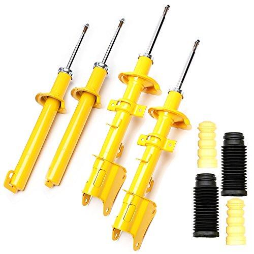 4 ammortizzatori sportivi a gas, posteriori e anteriori e protezione anti-polvere