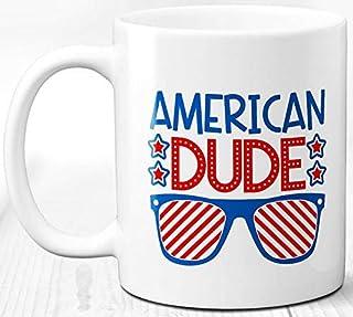 Café tipo americano Taza 330 ml Taza de cerámica Regalo America Life USA Patriot
