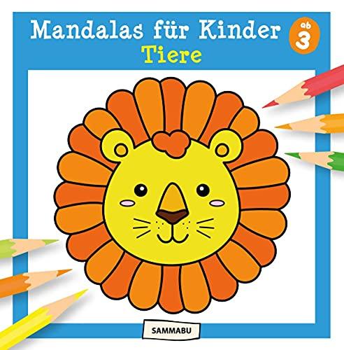 Mandalas für Kinder ab 3 - Tiere: Mandala-Malbuch mit einfachen Motiven und dicken Linien