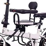 cuffslee Seggiolino Bici per Bambini con Corrimano, Seggiolino per Bambini Cassaforte per Bici Elettrica per Adulti Mountain Bike, Sedile Regolabile E Pedale (Sedile Completo)