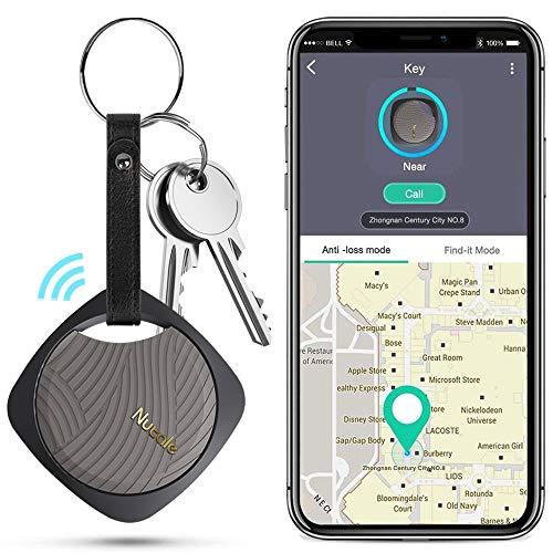 Schlüsselfinder, Wireless Key Finder mit Bluetooth APP für Haustier Tracker, Wallet Tracker, Telefon Tracker Unterstützung Fernbedienung Schlüssel Locator Kompatibel mit iOS/Androi (Black)
