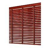 WENZHE Holzjalousie Jalousien Fenster Sichtschutz Holz Jalousette Rollos Rotwein - Klinge 3,5cm / 5cm Zuhause Balkon Fenster Dekoration - Größe Anpassbar (Color : 50mm, Size : 60x160cm)