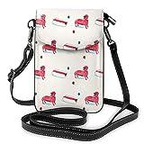 Cartone animato carino salsiccia cane rosso leggero borse a tracolla piccole borse in pelle per cellulare borsa da viaggio borsa a tracolla portafoglio