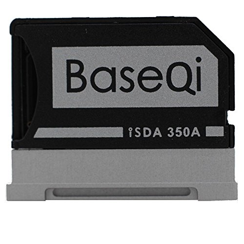 "BASEQI Aluminum MicroSD Adapter for Microsoft Surface Book & Surface Book 2 (Surface Book & Surface Book 2 13.5"" (model-350A))"