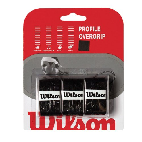 WILSON WRZ4025BK Profile Overgrip, Color Negro 3 Unidades,