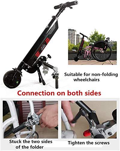 IG Silla de ruedas eléctrica para bicicleta de mano, 36V 300W ...
