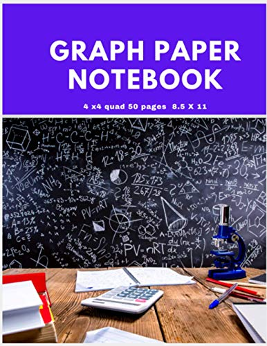 GRAPH PAPER NOTEBOOK 4 x 4 quad 50 pages 8.5 x 11: Five star graph paper notebook |4 x 4 quad 50 sheets 8.5 x 11 inches| Top engineering computation ... notebook| perfect gift for kids for geometry
