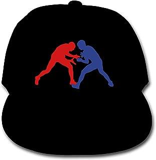 Greco Roman Wrestling Plain Snapback Cap Solid Color Baseball Hat Boy Black