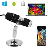microscopio Digital de 2MP 8 LED USB 2.0//1.1 Endoscopio de Aumento 1000x de YOMYM microscopios Mini USB con Soporte de Metal y Adaptador OTG Compatible con Mac Window 7 8 10 Android Linux