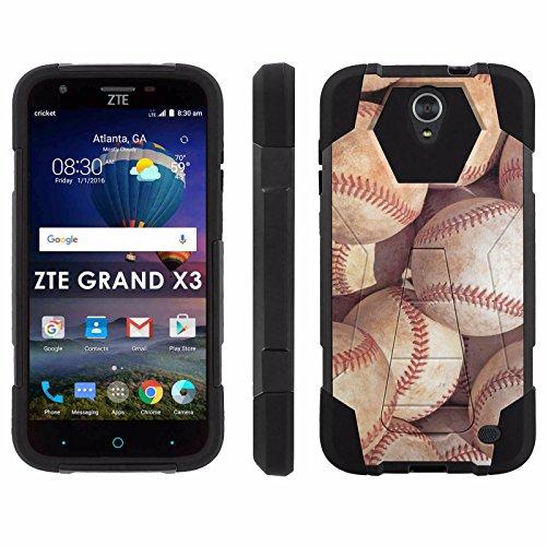 ZTE Uhura Grand X3 Z959 [Warp 7] Phone Cover, Baseballs - Black Hexo Hybrid Armor Phone Case for ZTE Uhura Grand X3 Z959 [Warp 7]