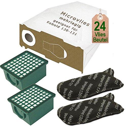 AVR-Handel 24 Vlies Staubsaugerbeutel mit 2 x Filter Set passend für Vorwerk Kobold VK 130, Kobold VK 131 und 131 SC