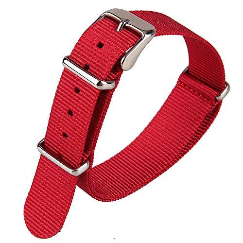 Uhrenarmband, Punktemuster, Blauer Nylon-Stoff, Leinwand-Band, Gewebeband, Nylon-Uhrenarmband, Militär-Stil, Armband, 18 mm Breite