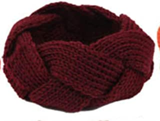 Knitting Wool Headband Braid Weaving Hair Bands for Women,A10