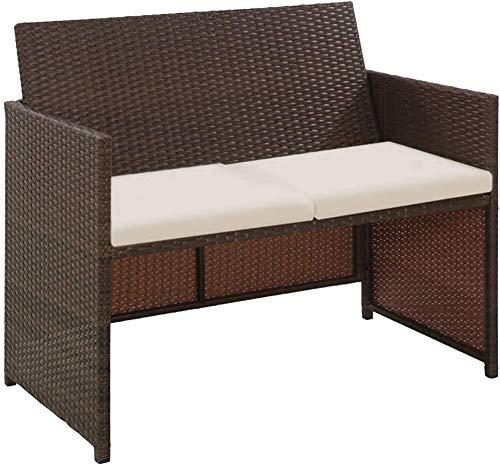 Conjunto de jardín Muebles de jardín, Cubierta de silla de ocio, Juegos de jardín Muebles de jardín, Moda integrada y función,Brown