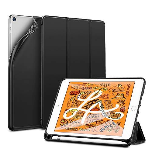 ESR iPad mini 5 ケース 2019 モデル ペンホルダー 付き スマート カバー 軽量 薄型 ソフト TPU 耐衝撃 傷...