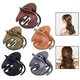 LHKJ 5 Pièces Pince pour Cheveux Pince à Griffe Plastique de Coiffure, IrréGulièRe Non Slip Griffe Clips Accessoires De Cheveux Pour Les Femmes