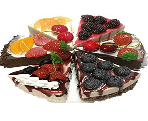 Elegantflower 食品 サンプル 詰め合わせ お菓子 おかし ケーキ 食品模型 6個セット ディスプレイ リアル 見本 食玩 展示 販促 グッズ ままごと お店屋さん