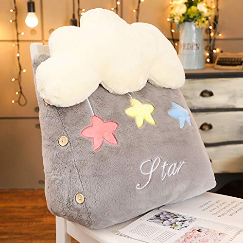 LTLGHY Plush Toy Cute Cloud Shaped Pillow Cushion Bedding Home Decoration Shooting Star And Rainbow Plush Toys Soft Shell Baby Sleeping Pillow Kids Sofa Home Decor Girls Gift,Gray