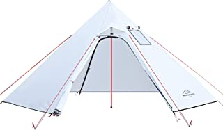 Ribitek ワンポールテント 2-3人 換気窓あり 秋冬両用 キャンプテント 超耐水圧 PU3000 通気 防風 コンパクト テントに薪ストーブ使用可