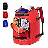 Qiaoqii Ski Boot Bag, Ski and Ski Boot Travel Backpack, 50L Large Capacity can Accommodate Ski Helmet, Goggles, Gloves, Snowboard and Other Accessories