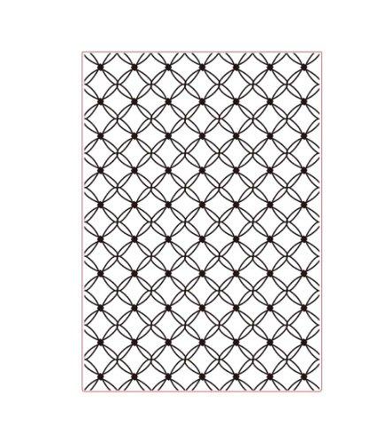 Darice Prägefolder-Schablone, Muschel-A4, Plastic, transparent, 29.7 x 21 x 0.3 cm