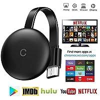 csqq Stick De TV para El Nuevo Google Chromecast 3 para Netflix Youtube WiFi Pantalla HDMI Dongle Inalámbrica Miracast para Android iOS PC,WiFi Aparato,para La Conexión De WiFi