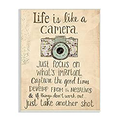 Life is like a camera wall art.