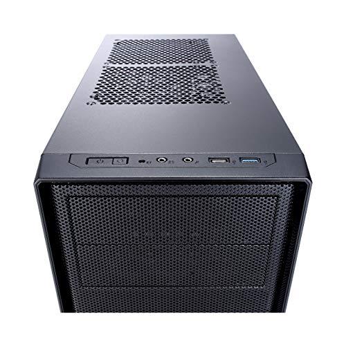 Fractal Design Focus G - Mid Tower Custodia computer - ATX -Ottimizzato per flusso d'aria elevato e elaborazione silenziosa - 2x ventola inclusa - USB 3.0 - pannello laterale a finestra - Grigio