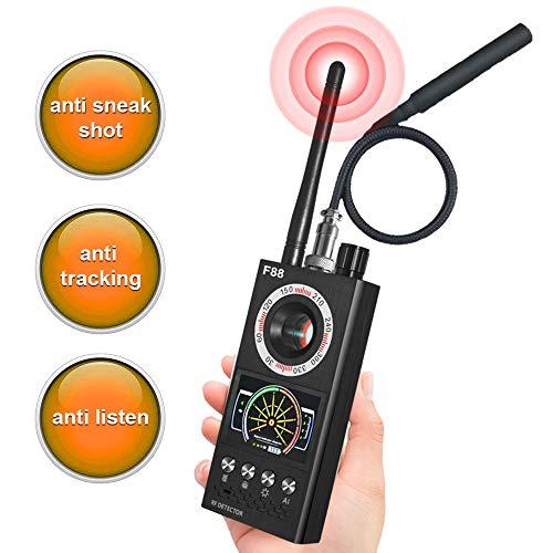 Anti Spy Detector, Hidden Camera Finder, Wireless Bug Detector RF Signer Detector for GPS Tracking GSM Listening Device Finder, Audio Bug Camera Detector Finder, Upgraded Version