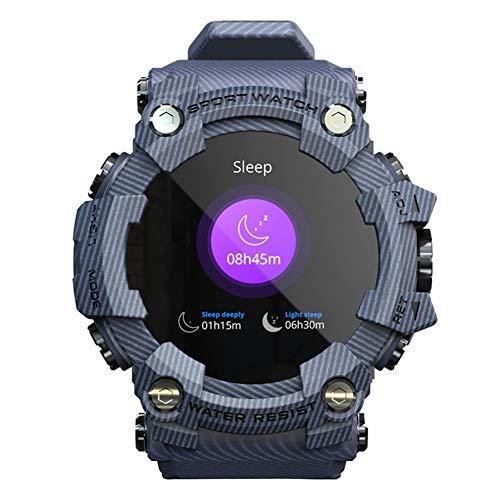 Wan&ya Reloj Inteligente Múltiples Modos Deportivos al Aire Libre Reloj de Pulsera Digital a Prueba de Agua Contador de Pasos Monitor de sueño Monitor de Actividad para Hombres y Mujeres,Azul
